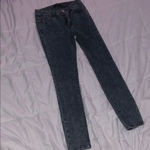 Pants - Faded Skinny Jeans